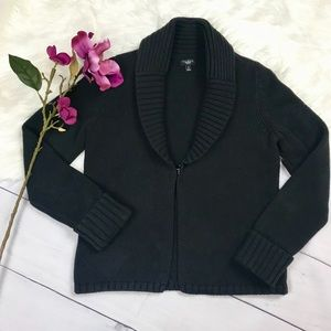 Talbots. Medium Petite Cardigan Black